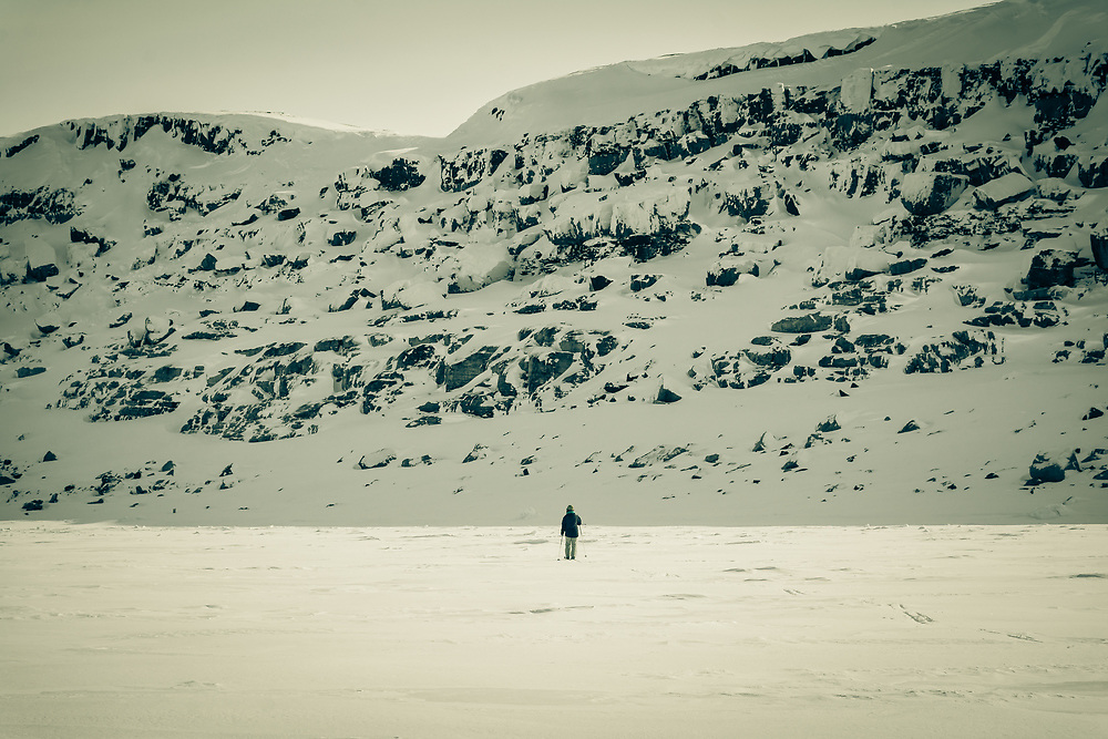 Cross country skiing near Patterson Island.