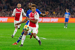 13-03-2019 NED: Ajax - PEC Zwolle, Amsterdam<br /> Ajax has booked an oppressive victory over PEC Zwolle without entertaining the public 2-1 / David Neres #7 of Ajax, Kingsley Ehizibue #20 of PEC Zwolle