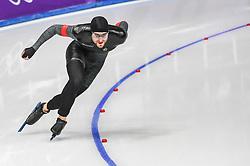 February 23, 2018 - Pyeongchang, Gangwon, South Korea - Konrad Nagy of Hungary in 1000 meter speedskating at winter olympics, Gangneung South Korea on February 23, 2018. (Credit Image: © Ulrik Pedersen/NurPhoto via ZUMA Press)