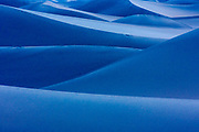 Sand dunes by moonlight in Death Valley National Park, California