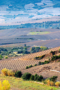 Maury. Roussillon. Vineyards. Spectacular view over the mountains. France. Europe. Vineyard.