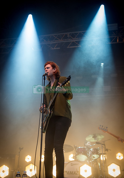Matt Thomson of The Amazons performs on stage on day 1 of Standon Calling Festival on July 27, 2018 in Standon, England. Picture date: Friday 27 July, 2018. Photo credit: Katja Ogrin/ EMPICS Entertainment.