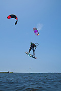 Outerbanks, NC - Tom Court kiteboarding at the Triple-S 2011