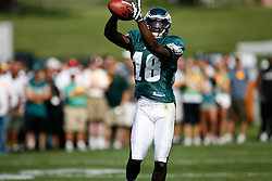 Philadelphia Eagles wide receiver Jeremy Maclin #18 during the Philadelphia Eagles NFL training camp in Bethlehem, Pennsylvania at Lehigh University on Saturday August 8th 2009. (Photo by Brian Garfinkel)