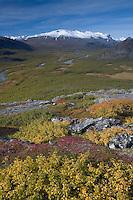 View along Rapadalen from Nammajs mountain, Sarek National Park, Laponia World Heritage Site, Sweden