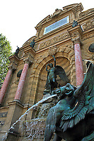 The Place Saint-Michel is a public square in the Latin Quarter, on the borderline between the fifth and sixth arrondissements of Paris. It lies on the left bank of the river Seine facing the Île de la Cité, to which it is linked by the Pont Saint-Michel.