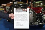 RIAC Classic Car Show 2013, RDS, 1952 Mercedes-Benz 300S. The 300S was by far the most exclusive Mercedes-Benz passenger model of its day. Irish, Photo, Archive.