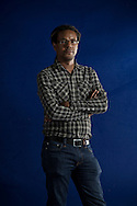 American writer Colson Whitehead, pictured at the Edinburgh International Book Festival where he talked about his latest book entitled 'Zone One'. The three-week event is the world's biggest literary festival and is held during the annual Edinburgh Festival. The 2012 event featured talks and presentations by more than 500 authors from around the world.