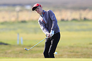 Ryan McNelis (Fintona) on the 1st during Round 2 of the Ulster Boys Championship at Donegal Golf Club, Murvagh, Donegal, Co Donegal on Thursday 25th April 2019.<br /> Picture:  Thos Caffrey / www.golffile.ie