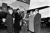1962 - Mr John Bowles, President of Rexall Drugs, arriving at Dublin Airport