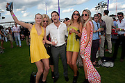 POSY BRINDLEY; TYRONE WOOD; ALICE BRINKLEY; ROSIE EGAN, After party at China White's club. Cartier International Day at Guard Polo Club, Windsor Great Park. 24 July 2011. ChinaWhite Tent during Cartier Polo. <br /> <br />  , -DO NOT ARCHIVE-© Copyright Photograph by Dafydd Jones. 248 Clapham Rd. London SW9 0PZ. Tel 0207 820 0771. www.dafjones.com.