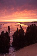 Sunset at Walberswick in Suffolk England