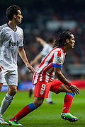 Falcao followed by Arbeloa, who submitted to a strict marking