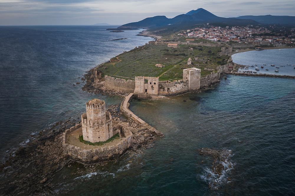 Methoni Castle at Messenia in southwestern Greece