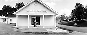 GLASGOW, KY – SEPTEMBER, 2009: Walter Earl Kinslow, 85, outside South Fork Baptist Church.