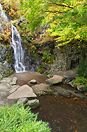 Waterfall at Queen Elizabeth Park in Vancouver, British Columbia, Canada