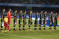 October 8, 2017 - Kolkata, West Bengal, India - Mexico football team during the FIFA U 17 World Cup India 2017 Group F matches in Kolkata. Player of Mexico and Iraq in action during the FIFA U 17 World Cup India 2017 Group F match on October 9, 2017 in Kolkata (Credit Image: © Saikat Paul/Pacific Press via ZUMA Wire)