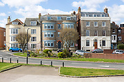 Historic buildings from the Green, Harwich, Essex, England, UK
