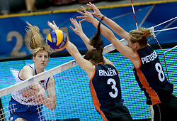 01-10-2014 ITA: World Championship Volleyball Servie - Nederland, Verona<br /> Nederland verliest met 3-0 van Servie en is kansloos voor plaatsing final 6 / Brankica Mihajlovic, Yvon Beliën, Judith Pietersen