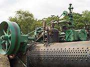 Antique J.I. Case steam tractor; Rock River Thresheree, Edgerton, WI; 2 Sept 2013