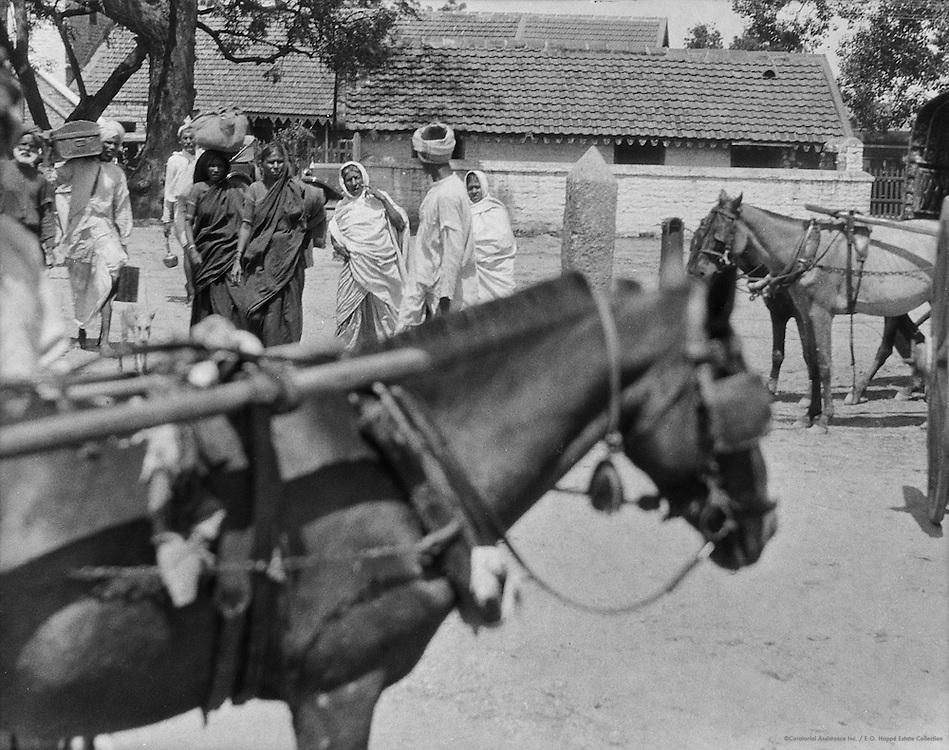 Outside Hospet Railway Station, India, 1929