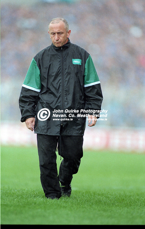 28-07-1996. Meath v Dublin - Leinster SFC Final at Croke Park.<br /> Meath manager Sean Boylan in deep concentration.<br /> Photo: John Quirke / www.quirke.ie<br /> ©John Quirke Photography, 16 Proudstown Road, Navan. Co. Meath. (info@quirke.ie / 046-9028461 / 087-2579454).