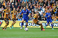 Cardiff city's Peter Whittingham © breaks into the penalty area but shoots wide.  Barclays Premier league match, Hull city v Cardiff city at the KC Stadium in Hull on Sat 14th Sept 2013. pic by Andrew Orchard, Andrew Orchard sports photography,