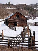 Log Barn, British Columbia, Canada.