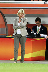 27.06.2011, Arena im Allerpark Wolfsburg , Wolfsburg ,  GER, FIFA Women Worldcup 2011, Gruppe B ,   Mexico (MEX) vs. England (ENG). im Bild Trainerin Silvia Neid (GER) nachdenklich  // during the FIFA Women Worldcup 2011, Pool B, Mexico vs England on 2011/06/26, Arena im Allerpark , Wolfsburg, Germany.  .EXPA Pictures © 2011, PhotoCredit: EXPA/ nph/  Hessland       ****** out of GER / CRO  / BEL ******