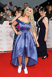 Stacey Solomon attending the National Television Awards 2018 held at the O2, London. Photo credit should read: Doug Peters/EMPICS Entertainment