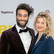 NLD/Amsterdam/20190605 - Premiere De Libi, auteur Mano Bouzamour en zijn date Julia Hakkenbroek