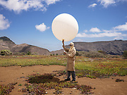 Lori Mar the manager of the Weather Station of Saint Helena.<br /> <br /> St Helena's weather station has been operational since Septem- ber 1976. Technical manager and islander Marcos Henry, has been working at the station since leaving school at 16. He says the balloon procedure - one daily launch- is effectively the same as it was over 40 years ago.