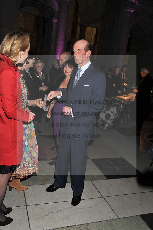 HRH The DUKE OF KENT at a private view of Photographs by Cecil Beaton celebrating the diamond jubilee of HM The Queen Elizabeth 11 at the Victoria & Albert Museum, Cromwell Road, London on 6th February 2012.