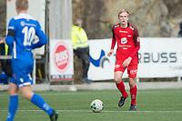 Fotball<br /> 04.05.2018<br /> Norgesmesterskap<br /> Straume Idrettspark<br /> Sotra - Brann<br /> Håkon Moldeklev (L) , Sotra<br /> Nicholas Marthiniussen (R) , Brann<br /> Foto: Astrid M. Nordhaug