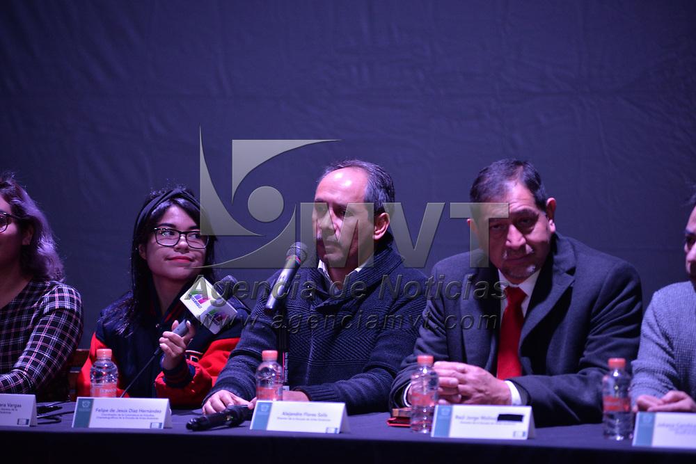 TOLUCA, México.- (Enero 29, 2018).- En conferencia de prensa se dio a conocer que la Universidad Autónoma del Estado de México (UAEM) será sede de la Muestra Fílmica CUEC 2018. Agencia MVT / Crisanta Espinosa.