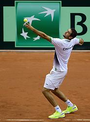 13-09-2014 NED: Davis Cup Nederland - Kroatie, Amsterdam<br /> Marin Draganja