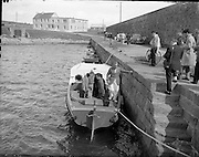 Lord Mountbatten coming ashore at Mullaghmore..29-30.07.1960