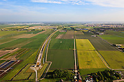 Nederland, Zuid-Holland, Hazerswoude-dorp, 23-05-2011; Polder de Noordplas, zuidelijke ingang boortunnel HSL, richting Zoetermeer..The entrance of the High Speed Train (view south) in the polder between Amsterdam and Rotterdam..luchtfoto (toeslag), aerial photo (additional fee required).copyright foto/photo Siebe Swart