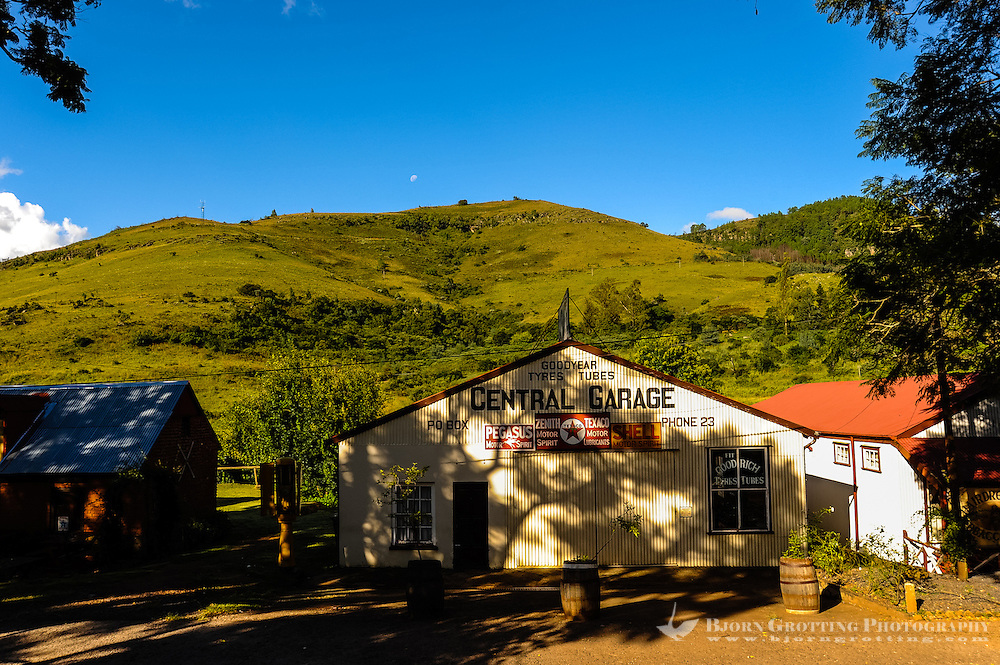 Garage. Pilgrim's Rest, an old Gold mining town in South Africa declared a national monument.