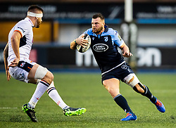 Owen Lane of Cardiff Blues<br /> <br /> Photographer Simon King/Replay Images<br /> <br /> Guinness PRO14 Round 2 - Cardiff Blues v Edinburgh - Saturday 5th October 2019 -Cardiff Arms Park - Cardiff<br /> <br /> World Copyright © Replay Images . All rights reserved. info@replayimages.co.uk - http://replayimages.co.uk