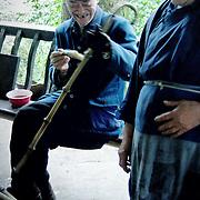 Walking stick master, Baoguo Si, China (May 2004)