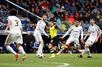 Real Madrid´s Pepe, Sergio Ramos, Casemiro and Xabi Alonso and Borussia Dortund's Milos Jojic during Champions League soccer match at Santiago Bernabeu stadium in Madrid, Spain. April 02, 2014. (ALTERPHOTOS/Caro Marin)