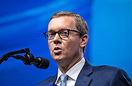 Chris Cox, chief lobbyist of the National Rifle Association (NRA), speaks at the NRA-ILA Leadership Forum during the NRA Annual Meeting & Exhibits on <br /> May 4, 2018 in Dallas, Texas at the Kay Bailey Hutchison Convention Center.