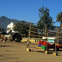 Central America, Latin America, Guatemala, Chichicastenango. End of market day in Chichicastenango main square.