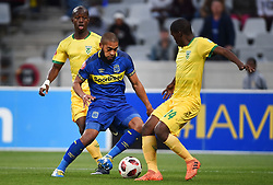 Cape Town-180818 Cape Town City defender Ebrahim Seedat challenged by Thabo Molefe of Golden Arrows in a PSL match at Cape Town Stadium .photograph:Phando Jikelo/African News Agency/ANA