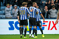 goal Sheffield Wednesday celebrate as Massimo Luongo of Sheffield Wednesday scores a goal 1-0 during the EFL Sky Bet Championship match between Sheffield Wednesday and Wigan Athletic at Hillsborough, Sheffield, England on 5 October 2019.