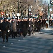 Begrafenis Gerrit Verwelius met koets Huizen, stoet