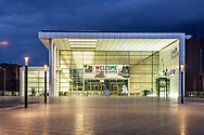 the entrance South of the exhibition halls Koelnmesse in the MesseCity in the district Deutz, Cologne, Germany.<br /> <br /> Eingang Sued der Koelnmesse in der MesseCity im Stadtteil Deutz, Koeln, Deutschland.