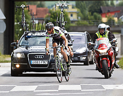03.07.2011, AUT, Oesterreich Rundfahrt, 1. Etappe, Dornbirn-Goetzis, im Bild Kozonchuk Dimitry (Geox TMC), during the 63rd Tour of Austria, Stage 1, EXPA Pictures © 2011, PhotoCredit: EXPA/ P.Rinderer