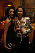 Mrs. Aiden Barclay and Laudomia Pucci, Plum Sykes, book launch party, Annabel's, Berkeley Square, London, W1,10 May 2006.  Matthew Williamson, Catherine Vautrin, Laudomia Pucci host party to celebrate 'The Debutante Divorcee'. ONE TIME USE ONLY - DO NOT ARCHIVE  © Copyright Photograph by Dafydd Jones 66 Stockwell Park Rd. London SW9 0DA Tel 020 7733 0108 www.dafjones.com